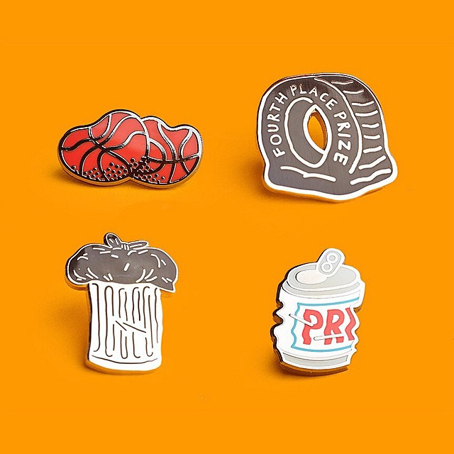 We love Tim's pins! @timlahan collaborated with New York-based @prizepins on this set of four limited edition pins. Get them before they are gone at prizepins.com