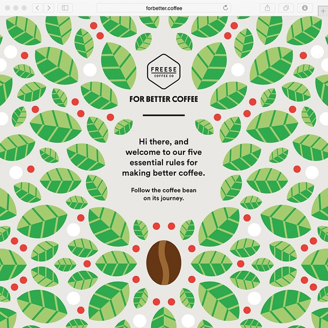 We've had the pleasure to collaborate with the lovely folks at @freesecoffeeco on @forbettercoffee, a platform that aims to empower people to brew and drink exponentially better coffee at home and at work, with family and friends. The forbetter.coffee site is illustrated entirely by @craigandkarl and goes live today at @SlushHQ. Cheers to @samin and @klokcreative for the collaboration.