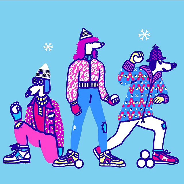 Round two of our collaboration with @karhuoriginals kicks off today with the launch of new tees illustrated by Sac Magique! The Karhu-inspired artwork was created by UK-born artist #SacMagique who has called Helsinki home since 2004. Join us for some Friday fun from 4-7 pm at the Karhu Concept Store!