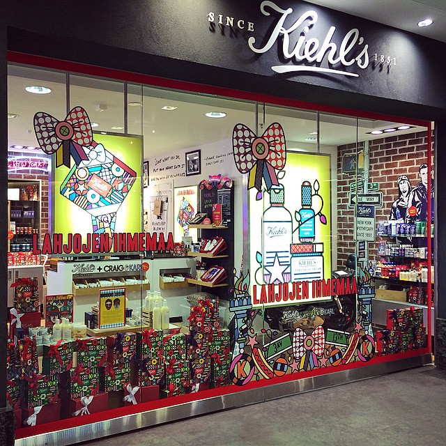Great to see the Craig & Karl x Kiehl's products on display in Helsinki. @kiehlsnyc @craigandkarl