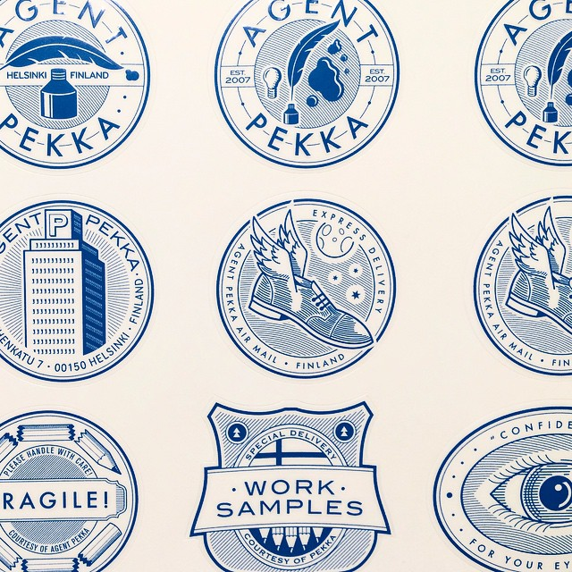Here's a throwback from 2008 when Rami Niemi designed these Agent Pekka stickers for us. ✉️