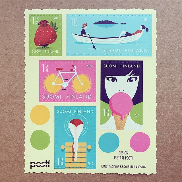 The Finnish Post released a new series of stamps today by @pposti.