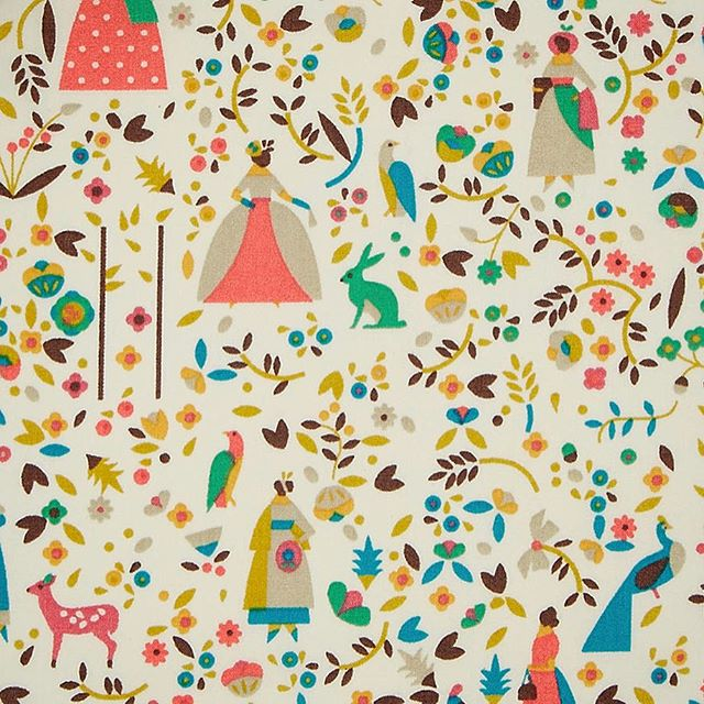 One of four colourways of @lottanieminen's new print for @libertylondon