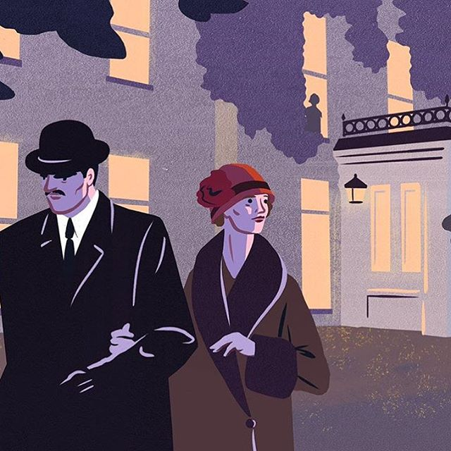 In honour of Agatha Christie's 125th anniversary, @owengatley created a series of illustrations for a short story written by Kate Mosse for the BBC  about Christie's mysterious 11 day disappearance in 1926.
