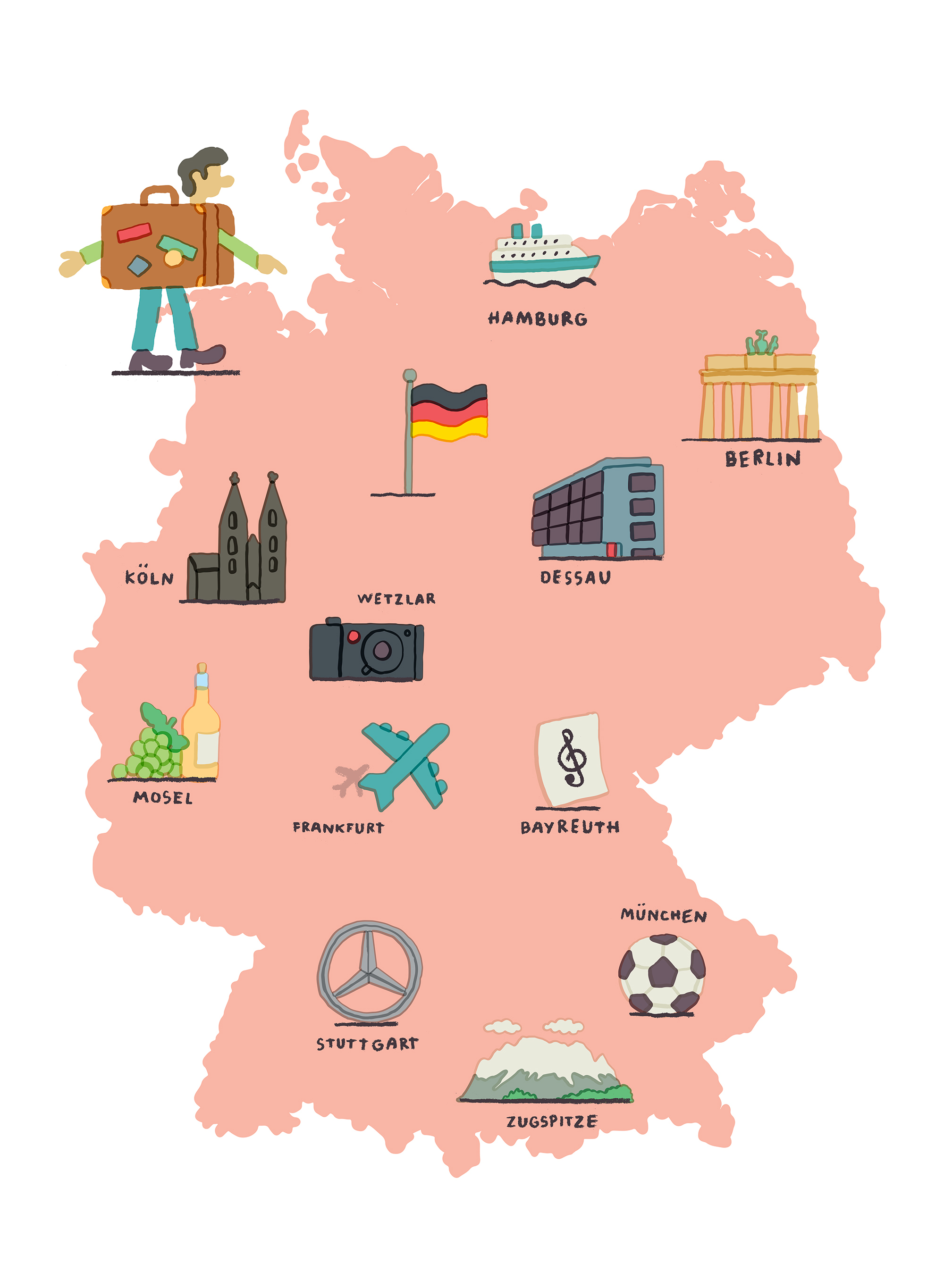 Cartoon Map Of Germany.Map Of Germany By Tim Lahan Agent Pekka