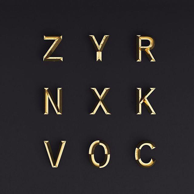 We love this custom 3D alphabet that Rizon Parein created for Mamba Day. www.nike.com/mambaday @rizon_parein_3d #typography #3d #mambaday
