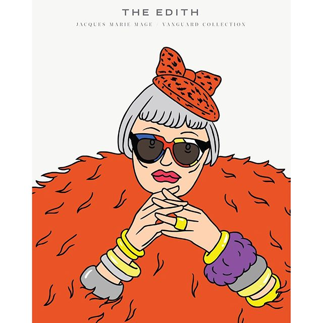 A lovely collaboration: Illustrator @jeanmicheltixier worked with @jacquesmariemage on a series of eight illustrations for the luxury goods brand's newest lookbook. Here's one of the images. #EdithFillmore