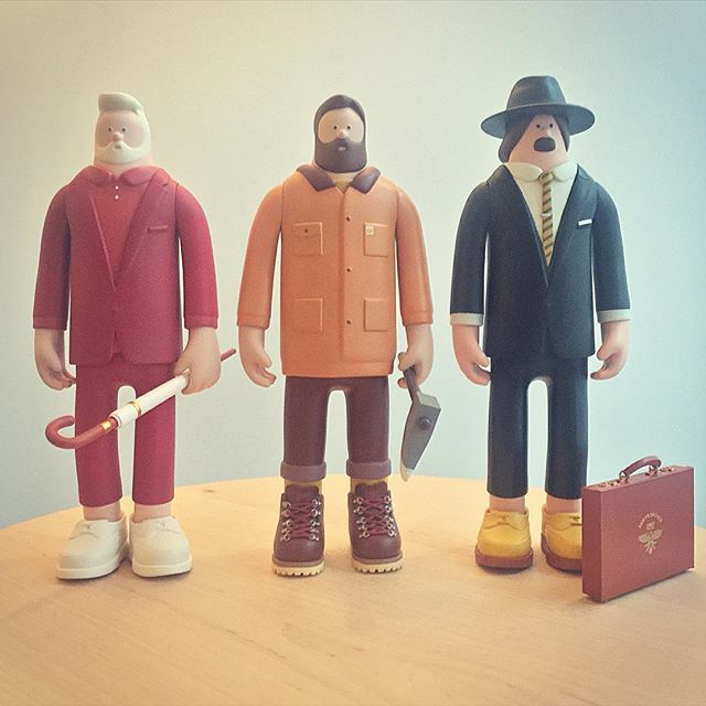 Freddy, Scott and Nick just arrived at our office. The details on these guys are stunning. Cheers @superfiction_sf !