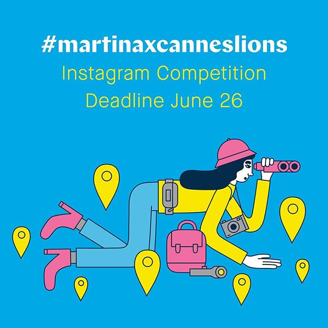COMPETITION REMINDER! Are you at Cannes Lions 2016? You are?! Brilliant! Then here's a lovely little competition for you.@cannes_lions commissioned @martinapaukova to create 40 illustrations (like the one depicted here) for #CannesLions 2016. You'll be able to see her work all around the Palais des Festivals and brightening up the Croisette.RULES: Spot an illustration by Martina at the festival, snap a photo of it and share it on Instagram with the tag #martinaxcanneslions. The three photos with the most likes will receive a beautiful, numbered print from the artist.The competition ends on Sunday, June 26. We'll notify the winners via Instagram by July 1. 