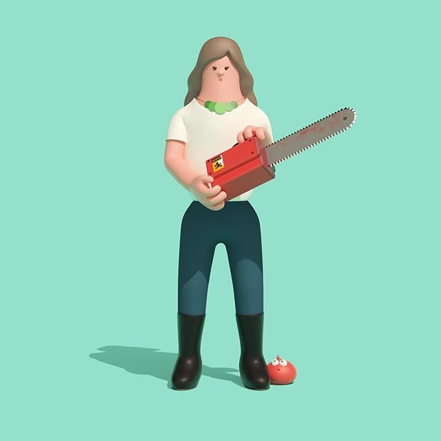 Deutsch commissioned Superfiction to create 3D characters of the jury members of the upcoming ANDYs. Here's Wieden+Kennedy's Global ECD, Colleen DeCourcy. ⠀⠀Your ideas are special. Anybody who doubts it can have a chat with Colleen's chainsaw.⠀⠀@deutschinc @superfiction_sf @andyawards @wiedenkennedy @wknyc @wkstudiopdx @cdecourcy #agencylife #creativeagency #advertisingagency #creative #wk #wiedenkennedy #deutsch #adclubny #ANDYawards #agentpekka