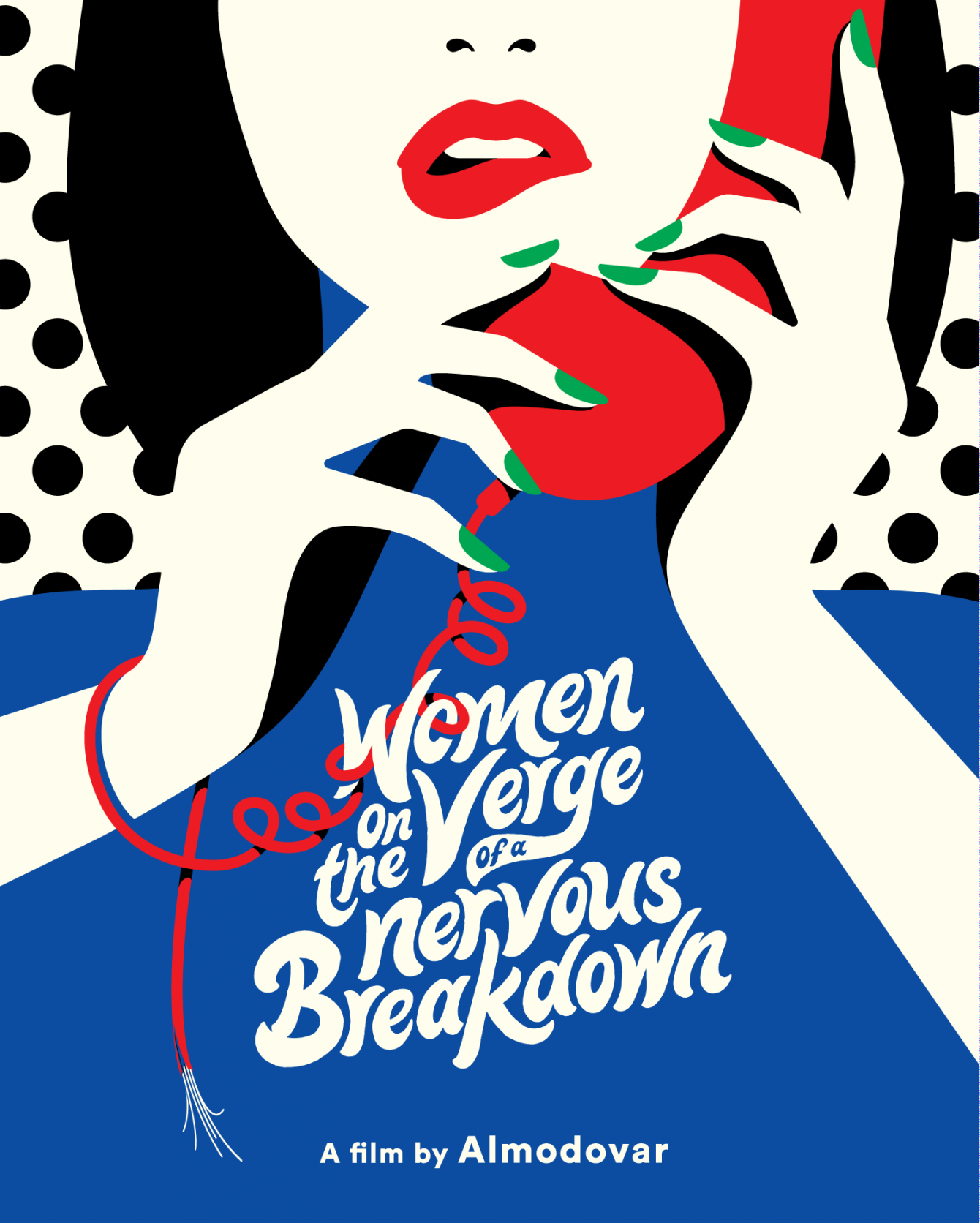 "This has been out for a while already, but we just can't get enough this illustration! Lettering luminary @tyrsamisu and illustration heavyweight @malikafavre collaborated on the cover art for the new release of Almodovar's ""Women On The Verge Of a Nervous Breakdown"". Available now from @criterioncollection"