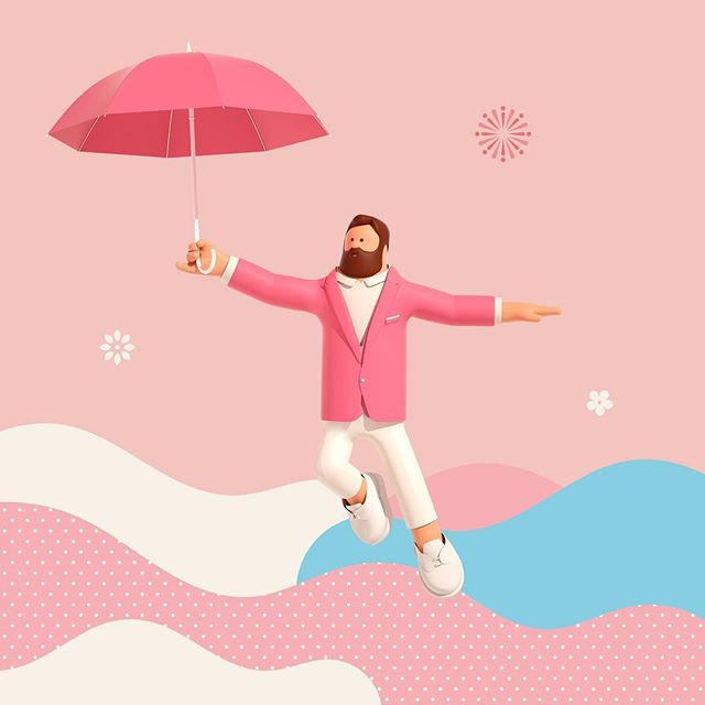 Superfiction (@superfiction_sf) designed Lotte World Mall's recent 'Joyful Festival' campaign in collaboration with Designmaum. Here's one of the images from the campaign. #lotteworldmall