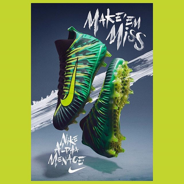 Portfolio update! Alexis Tyrsa's (@tyrsamisu) portfolio has just been updated with some new work, including this brilliant piece for @nike's recent campaign for the Alpha Menace football cleat. Follow the link in our bio to see more of Tyrsa's newest works.