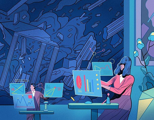 Ace illustration by @rfisker for @wireduk's annual The WIRED World in 2018. #illustration #drawing #editorialillustration #wired #runefisker #procreate
