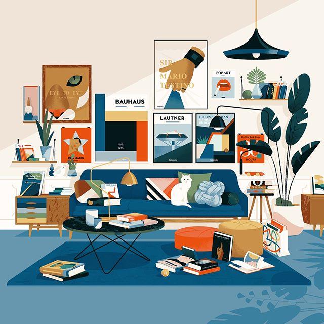 Sharing some older work that we really admire. This poster by @cruschiform for @taschen's 2017 summer sale is a real stunner. #illustration #cruschiform #agentpekka #taschen