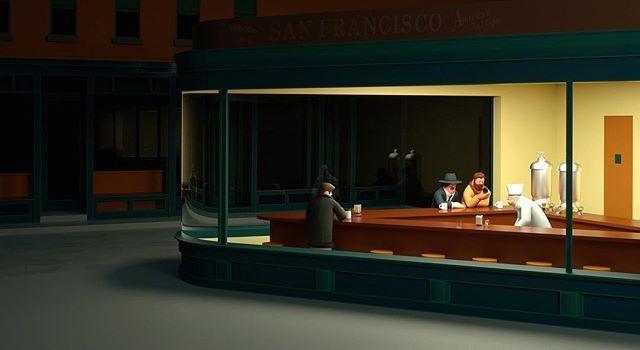 An scene from 'Beautiful Office Life' — a stunning new series of images by @superfiction_sf that celebrates the life Paul, an ordinary office worker. #3D #superfiction #agentpekka