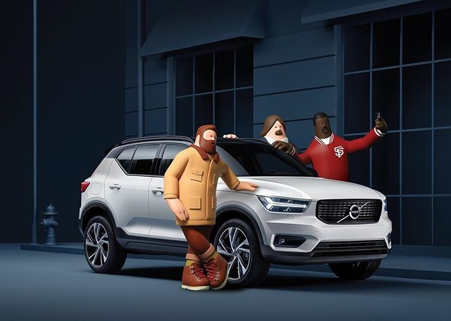 Portfolio update: Superfiction's (@superfiction.sf) portfolio gets a huge update, including this glossy image for Volvo XC40, the European car of the year. #characterdesign #automobile #volvo #3D