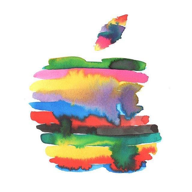 Apple illustrations by @eilikaija for @apple 's event held at the Brooklyn Music Academy last week. #eilikaijakuusniemi #agentpekka