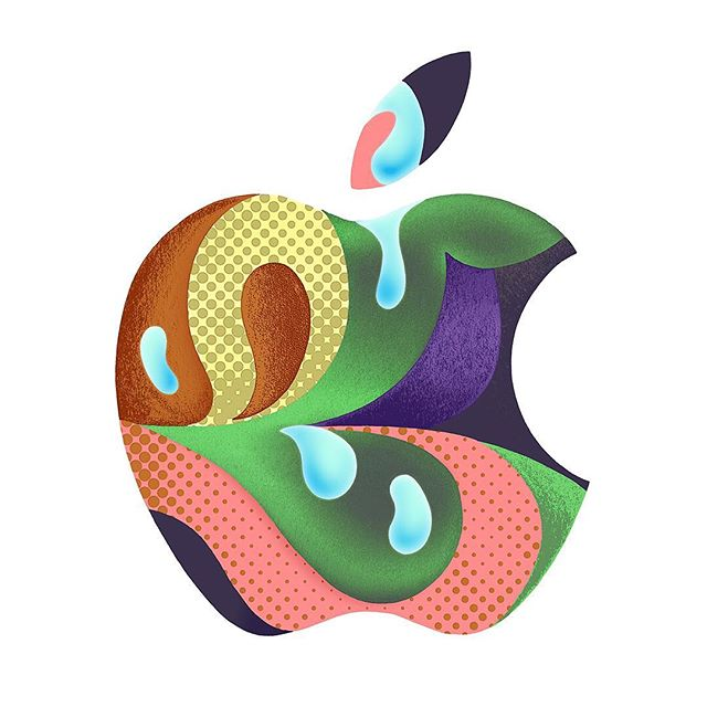 Apple illustrations by @sac_magique for @apple 's event held at the Brooklyn Music Academy last week. #sacmagique #agentpekka