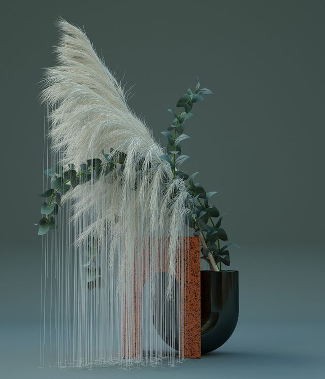 Stunning new personal piece by @studio_brasch entitled 'Digibana 1'. #digital #ikebana #studiobrasch #agentpekka