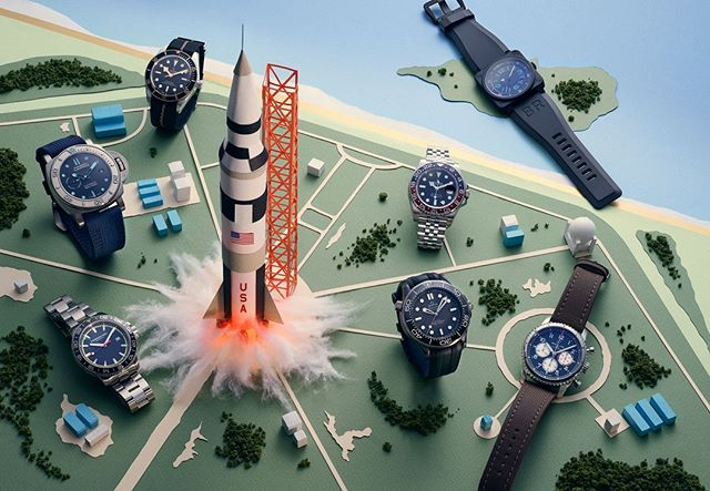 Owen Gildersleeve's (@owengildersleeve) portfolio gets a big update, including a gorgeous series of space-themed images for @vanityfair's Spring 2019 watch report. Follow the link in our bio to see the whole series and more of Owen's new work. #papercraft #agentpekka #owengildersleeve