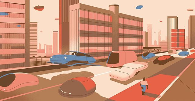 @sohohouse asked @sebastienplassard to create an illustration for an article on the future of travel. You'll find this in the latest issue of House Notes. #illustration #sebastienplassard #agentpekka #sohohouse